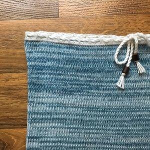 Vintage Tops - Vintage Crochet Tube Top Scalloped Hem Blue Bahia